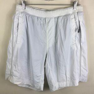 Lululemon Athletica White Workout Shorts Large
